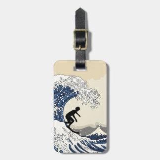Etiqueta De Bagagem O grande surfista de Kanagawa