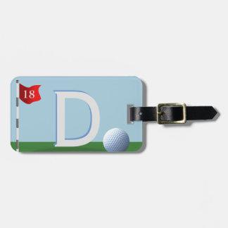 Etiqueta De Bagagem O grande Tag do saco do monograma do jogador de