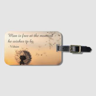 Etiqueta De Bagagem O homem é citações livres de Voltaire