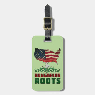 Etiqueta De Bagagem O Hungarian americano enraíza o modelo do Tag da