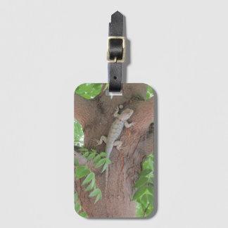 Etiqueta De Bagagem O lagarto espinhoso de Clark em uma árvore