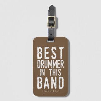 Etiqueta De Bagagem O melhor baterista (provavelmente) (branco)