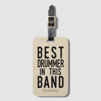 Etiqueta De Bagagem O melhor baterista (provavelmente) (preto)