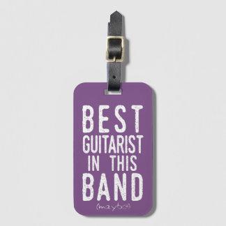 Etiqueta De Bagagem O melhor guitarrista (talvez) (branco)