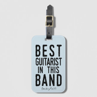 Etiqueta De Bagagem O melhor guitarrista (talvez) (preto)