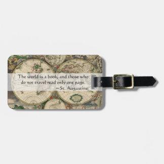 Etiqueta De Bagagem O mundo é um livro e aqueles que não viajem