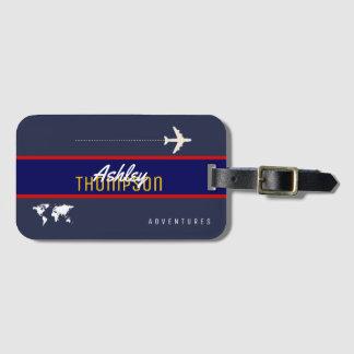 Etiqueta De Bagagem o nome & o avião para sua viagem aérea