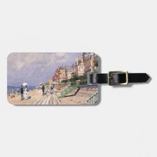 Etiqueta De Bagagem O passeio à beira mar em Trouville Claude Monet