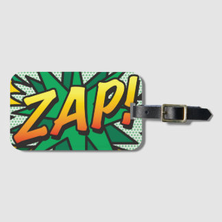 Etiqueta De Bagagem O pop art da banda desenhada ZAP! personalizado