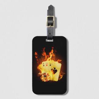 Etiqueta De Bagagem O póquer ardente carda o Tag da bagagem