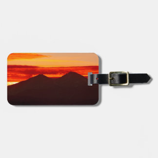 Etiqueta De Bagagem O por do sol sobre Longs Colorado máximo