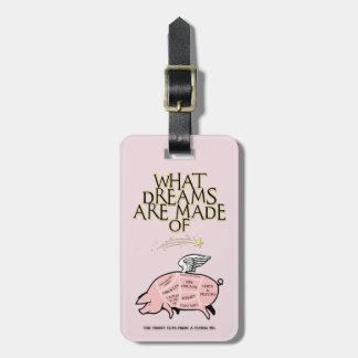 Etiqueta De Bagagem O porco do vôo Corte-Que sonha é feito de