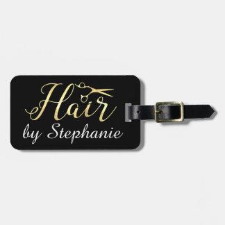 Etiqueta De Bagagem O roteiro dourado Scissors o cabeleireiro do
