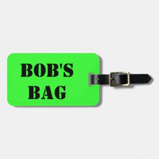 Etiqueta De Bagagem O saco de Bob