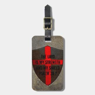 Etiqueta De Bagagem O senhor do 28:7 do salmo é meus força & protetor