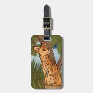 Etiqueta De Bagagem O Serval e a borboleta