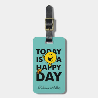 Etiqueta De Bagagem O Sr. Feliz | é hoje um dia feliz