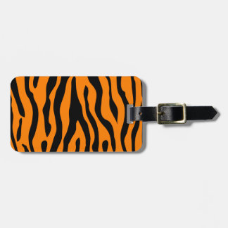 Etiqueta De Bagagem O tigre listrou o Tag da bagagem - chamar todos os