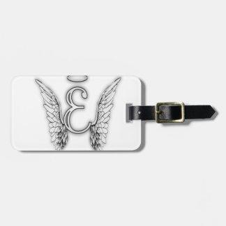 Etiqueta De Bagagem O último inicial do alfabeto E do anjo voa o halo