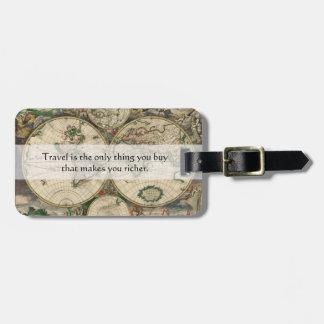 Etiqueta De Bagagem O viagem faz lhe umas citações mais ricas -