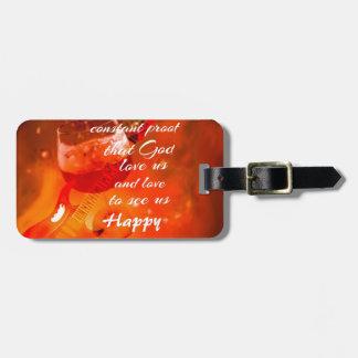 Etiqueta De Bagagem O vinho faz-nos felizes