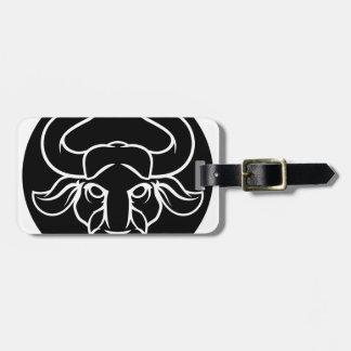 Etiqueta De Bagagem O zodíaco assina o ícone de Bull do Taurus