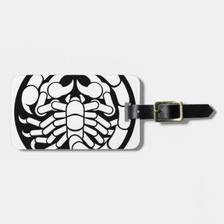 Etiqueta De Bagagem O zodíaco assina o ícone do escorpião da Escorpião