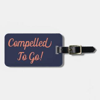 Etiqueta De Bagagem Obrigado para ir Tag da bagagem