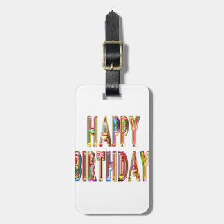 Etiqueta De Bagagem ocasião do partido da celebração do feliz