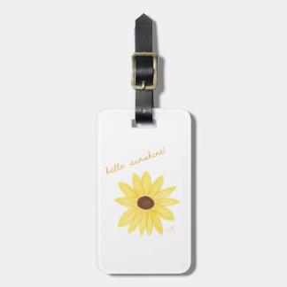 Etiqueta De Bagagem Olá! Tag da bagagem da luz do sol