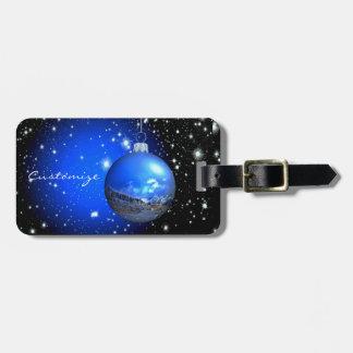 Etiqueta De Bagagem ornamento celestial azul/preto