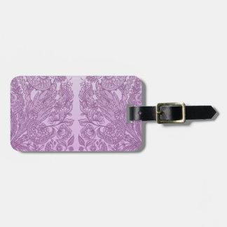 Etiqueta De Bagagem Ornamento cor-de-rosa empoeirado