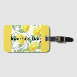 Etiqueta De Bagagem Os limões personalizaram o amarelo
