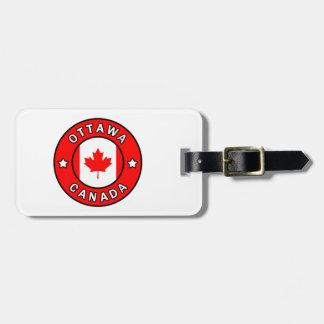 Etiqueta De Bagagem Ottawa Canadá