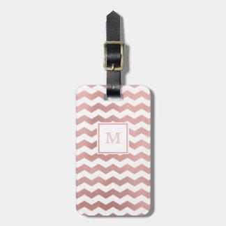 Etiqueta De Bagagem Ouro cor-de-rosa e Tag branco da bagagem de