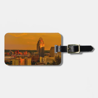 Etiqueta De Bagagem Ouro de Cincinnati