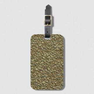 Etiqueta De Bagagem ouro de pedra irregular