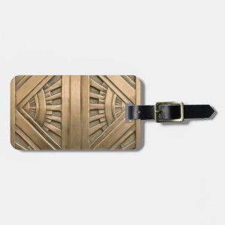 Etiqueta De Bagagem ouro, nouveau da arte, art deco, vintage, chique,