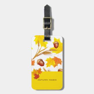 Etiqueta De Bagagem Outono dourado