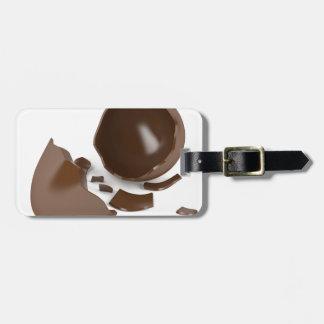 Etiqueta De Bagagem Ovo de chocolate quebrado