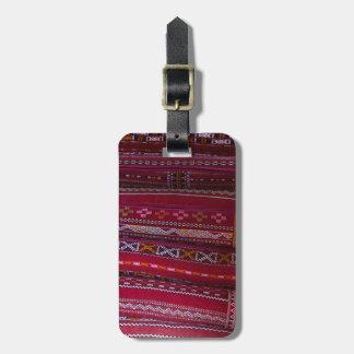 Etiqueta De Bagagem Padrões do travesseiro de matéria têxtil