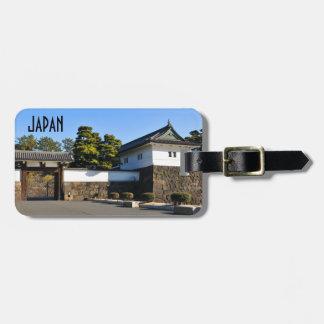 Etiqueta De Bagagem Palácio imperial em Tokyo, Japão