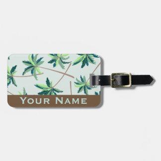 Etiqueta De Bagagem Palma australiana tropical do foxtail