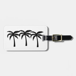 Etiqueta De Bagagem Palmeiras tropicais