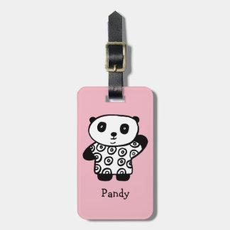 Etiqueta De Bagagem Pandy personalizado a panda
