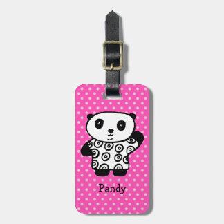 Etiqueta De Bagagem Pandy personalizado as bolinhas da panda