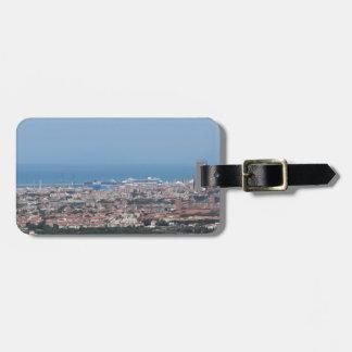 Etiqueta De Bagagem Panorama aéreo espectacular da cidade de Livorno,