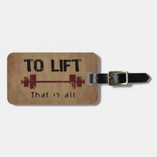 Etiqueta De Bagagem Para levantar o Bodybuilding
