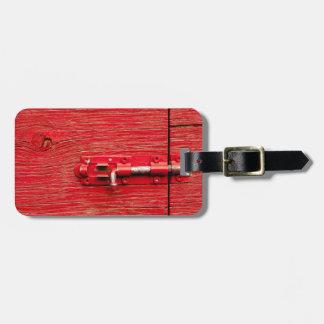 Etiqueta De Bagagem Parafuso de madeira vermelho