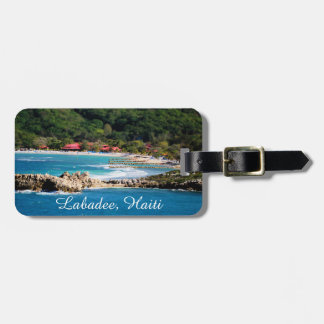 Etiqueta De Bagagem Paraíso tranquilo Labadee Haiti da ilha